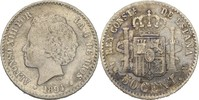 50 Centimos 1894 PGV Spanien Alfonso XIII., 1886-1931 fast vz/vz  25,00 EUR  +  3,00 EUR shipping