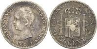 50 Centimos 1889 MPM Spanien Alfonso XIII., 1886-1931 fast ss  15,00 EUR  +  3,00 EUR shipping