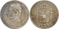 50 Centimos 1881 MSM Spanien Alfonso XII., 1874-85 fast ss  8,00 EUR  +  3,00 EUR shipping