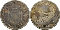 50 Centimos 1869 SNM Spanien Prov. Regierung fast ss  54.97 US$ 50,00 EUR  +  4.40 US$ shipping