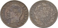 20 Centimes 1860 BB Frankreich Napoleon III., 1852-70 ss/vz  30,00 EUR  +  3,00 EUR shipping