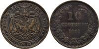 10 Stotinki 1881 Heaton Bulgarien Alexander I., 1879-86 ss  10,00 EUR  +  3,00 EUR shipping