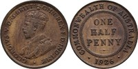 1/2 Penny 1926 Australien George V., 1910-36 ss  8.80 US$ 8,00 EUR  +  3.30 US$ shipping