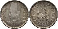 2 Piaster 1937 Ägypten Farouk, 1936-52 vz kl. Randunebenheiten  10,00 EUR  +  3,00 EUR shipping