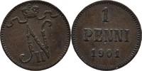 1 Penni 1901 Finnland Nikolaus II., 1894-1917 ss  5,00 EUR  +  3,00 EUR shipping