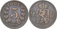5 Öre 1876 Norwegen Oscar II., 1872-1907 ss  8,00 EUR  +  3,00 EUR shipping