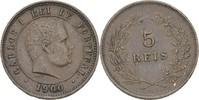 5 Reis 1900 Portugal Carlos I., 1889-1908 ss kl. Randfehler  10,00 EUR  +  3,00 EUR shipping