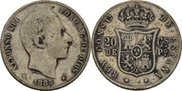 20 Centimos 1885 Philippinen unter Spanien Alfonso XII., 1874-85 ss  35,00 EUR  +  3,00 EUR shipping