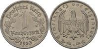 1 Reichsmark 1933 G Drittes Reich  fvz kl. Randfehler  15,00 EUR  +  3,00 EUR shipping