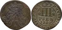 3 Pfennige 1712 Münster Domkapitel Franz Arnold von Wolff Metternich zu... 30,00 EUR  +  3,00 EUR shipping