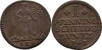 Pfennig 1743 Braunschweig Wolfenbüttel Carl I., 1735-1780 ss  20,00 EUR  +  3,00 EUR shipping