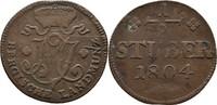 1/2 Stüber 1804 Berg Maximilian IV. Joseph 1799-1806 ss  12,00 EUR  +  3,00 EUR shipping