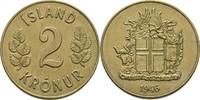 2 Kronur 1946 Island  vz  7,00 EUR  +  3,00 EUR shipping