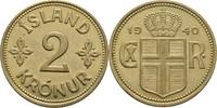 2 Kronur 1940 Island  ss  7,00 EUR  +  3,00 EUR shipping