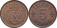 5 Aurar 1942 Island  fast Stempelglanz  10,00 EUR  +  3,00 EUR shipping