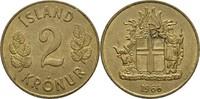 2 Kronur 1966 Island  vz  5,00 EUR  +  3,00 EUR shipping