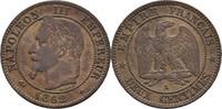 2 Centimes 1862 A Frankreich Napoleon III., 1852-70 vz  15,00 EUR  +  3,00 EUR shipping