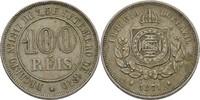 100 Reis 1871 Brasilien  ss Randfehler  10,00 EUR  +  3,00 EUR shipping