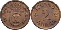 2 Aurar 1942 Island  prägefrisch  10,00 EUR  +  3,00 EUR shipping