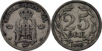 25 Öre 1880 EB Schweden Oscar II., 1872-1907 ss  15.83 US$ 14,00 EUR  +  3.39 US$ shipping