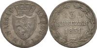 3 Kreuzer 1831 Nassau Wilhelm, 1816-39 ss-  11.31 US$ 10,00 EUR  +  3.39 US$ shipping