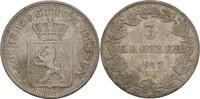3 Kreuzer 1847 Hessen Darmstadt Ludwig II., 1830-48 ss-  16.96 US$ 15,00 EUR  +  3.39 US$ shipping
