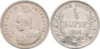 1/4 Rupie 1906 A DOA Deutsch Ostafrika  ss+  50.88 US$ 45,00 EUR  +  4.52 US$ shipping