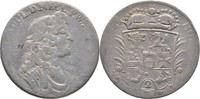 2/3 Taler 1688 Mecklenburg Güstrow Gustav Adolph, 1636-1695. f.ss  124.36 US$ 110,00 EUR  +  4.52 US$ shipping