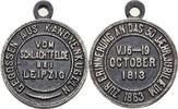 Eisengußmedaille 1863 Sachsen Befreiungskriege / Napoleon ss  45,00 EUR  +  3,00 EUR shipping