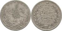 Qirsh  Osmanen Ägypten Egypt Abdul Hamid II. ss  10,00 EUR  +  3,00 EUR shipping