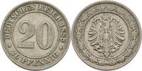 20 Pfennig 1888 A Deutsches Reich  ss  13.00 US$ 11,50 EUR  +  3.39 US$ shipping
