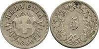 5 Rappen 1850 BB Schweiz  ss-  14,00 EUR  +  3,00 EUR shipping