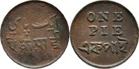 1 Pie 1831-35 Indien - Bengal Pres.  ss kl. Randfehler  10,00 EUR  +  3,00 EUR shipping