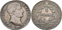 Franc 1806 Frankreich Paris Napoleon I., 1804-1815 kl. Randfehler, ss+  115,00 EUR  +  3,00 EUR shipping