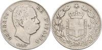 1 Lira 1887 M Italien Umberto I., 1878-1900 ss-  8,00 EUR  +  3,00 EUR shipping
