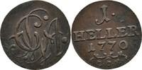 Heller 1770 Sachsen Gotha Altenburg Friedrich III. 1732-1772 ss  27,00 EUR  +  3,00 EUR shipping