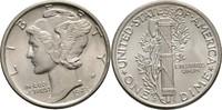 Dime 1943 D USA  fast Stempelglanz  15,00 EUR  +  3,00 EUR shipping