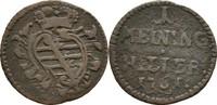 Heller 1761 Sachsen Meiningen Anton Ulrich, 1746-1763 Schrötlingsfehler... 17,00 EUR  +  3,00 EUR shipping