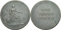England Chaston's Lowestoft (Suffolk) Penny Token 1811 Kratzer, ss  40,00 EUR