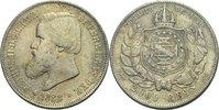2000 Reis 1888 Brasilien Pedro II., 1831 - 1889 Kratzer, ss  45,00 EUR  Excl. 3,00 EUR Verzending