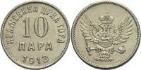 10 Para 1913 Montenegro Nikolaus, 1860 - 1918 Kratzer, ss  15,00 EUR  +  3,00 EUR shipping