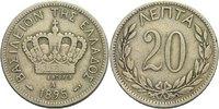 20 Lepta 1895 Griechenland Georg I., 1863 - 1913. ss  8,00 EUR  +  3,00 EUR shipping