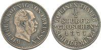 1/2 Silbergroschen 1871 Preussen Berlin Wilhelm I., 1861 - 1888. ss  9,00 EUR  +  3,00 EUR shipping