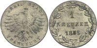 Kreuzer 1856 Frankfurt  prägefrisch  20,00 EUR  +  3,00 EUR shipping