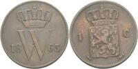 Cent 1863 Niederlande Willem III., 1849 - 1890. ss  11,00 EUR  +  3,00 EUR shipping