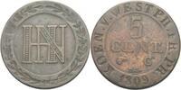 5 Cent 1809 Westfalen Hieronymus Napoleon, 1807 - 1813. ss  20,00 EUR  +  3,00 EUR shipping