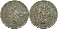 China Hupeh 10 Cash 1902 - 1905 fleckig  18,00 EUR