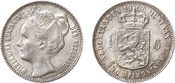 ½  Gulden 1905 Wilhelmina  Extremely fine +