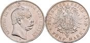 5 Mark 1876 Hessen . bessere Erhaltung !! ...