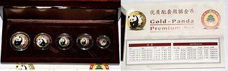 Yuan 2001 China Gold-Panda Premium Set 200...